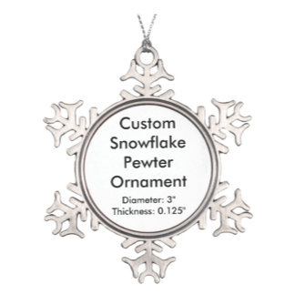 Custom Pewter Hanging Ornaments