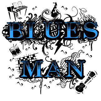 Blues - cool and hip blues man