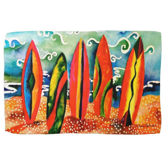 Surfboard Kitchen Towels