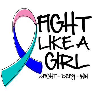 Thyroid Cancer Fight Like a Girl Ribbon