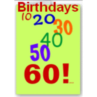 Birthdays - Milestones