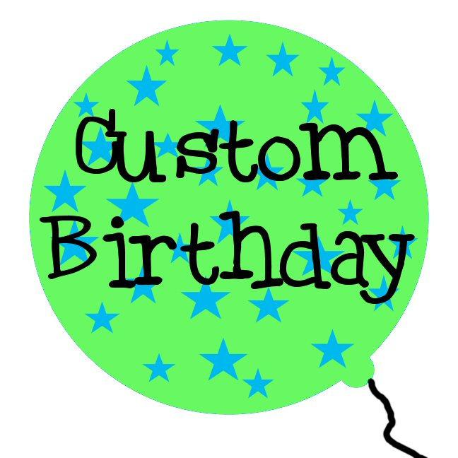 Customized Birthday