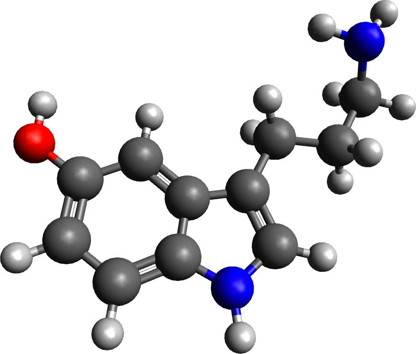 Ball-and-stick models of molecules