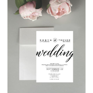 Typography Wedding Stationary