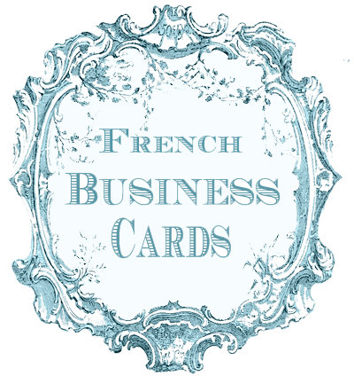 French Business Cards and Letterhead