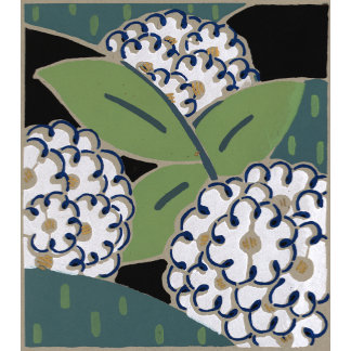 """""""Abstract White Flowers Poster Print"""""""