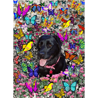 Abby in Butterflies - Black Lab