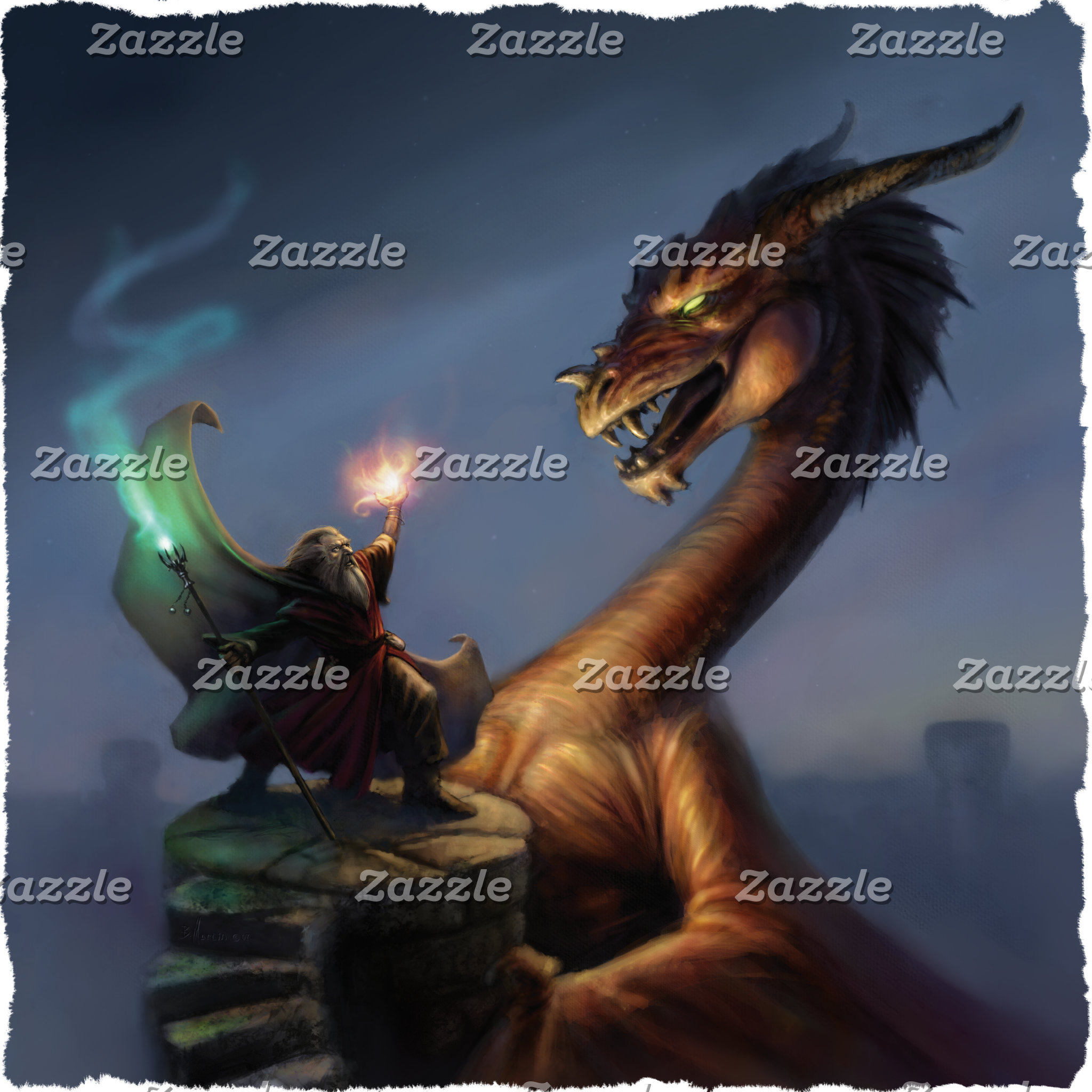 Wizard Defense - Dragon & wizard