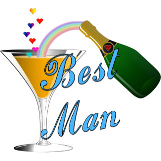 Champagne Toast Best Man Blue
