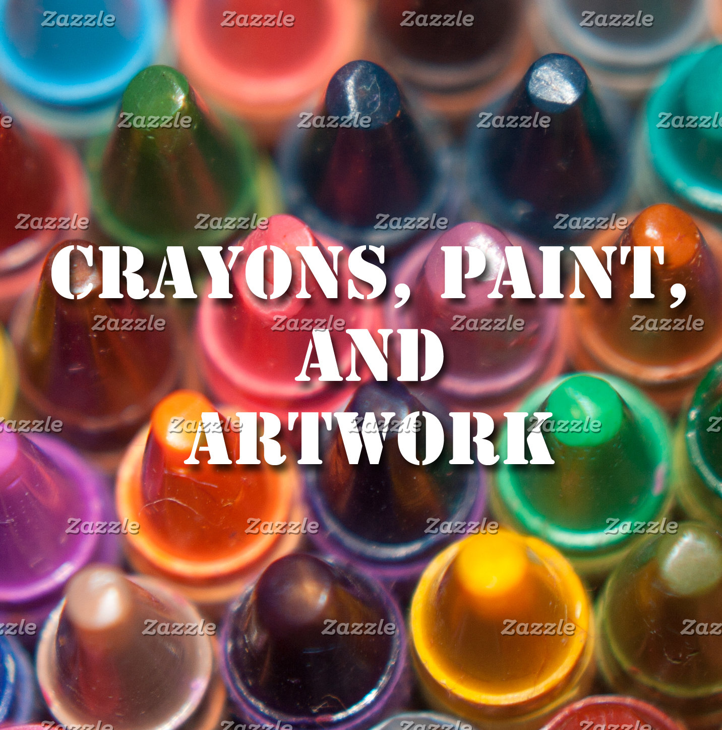 Crayons, Paint, and Artwork