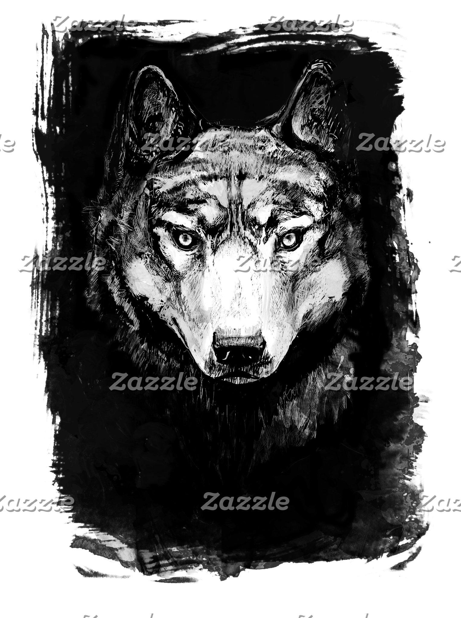 Wolf Portraits on Grunge
