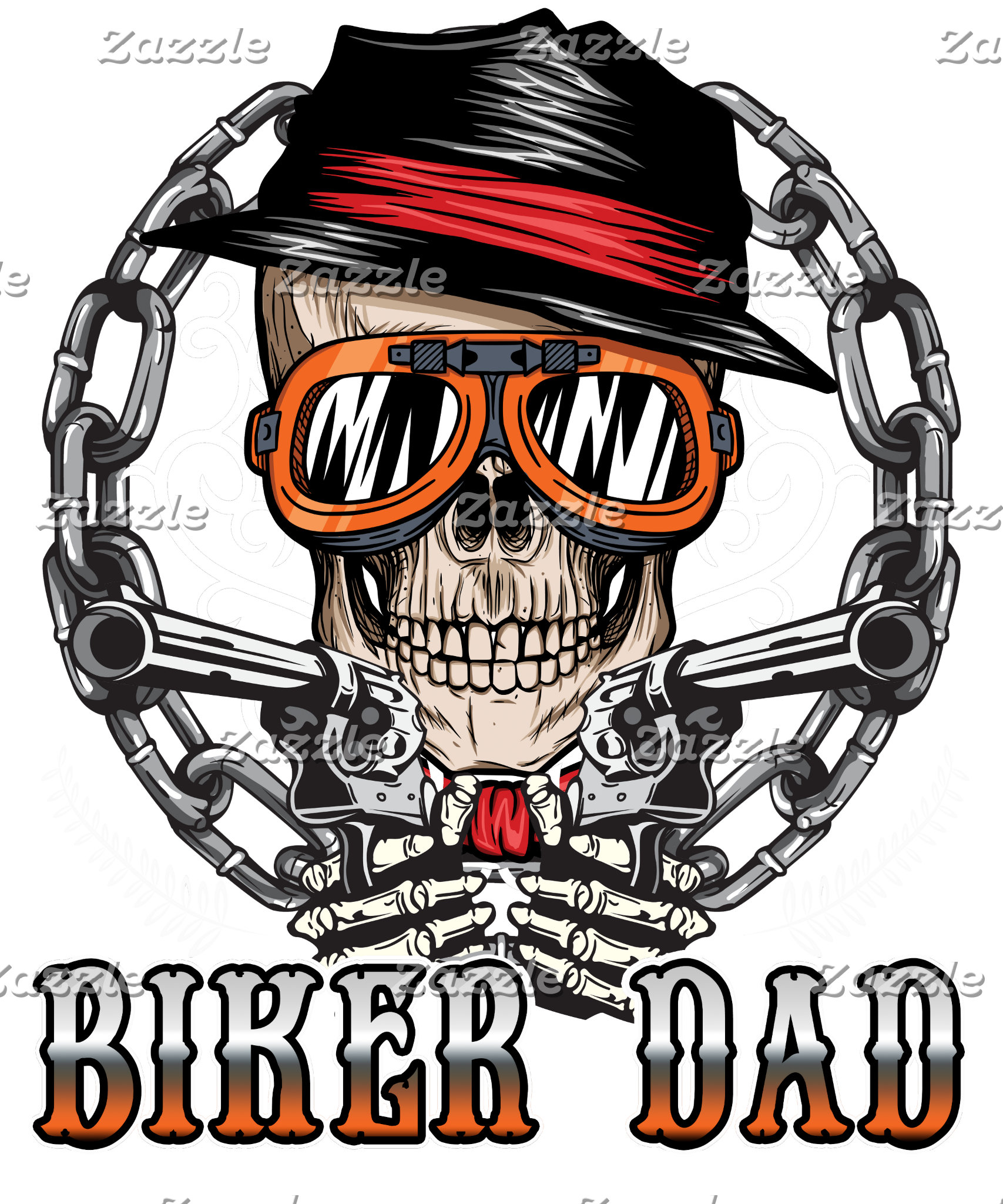 Biker Dad Skull Chain