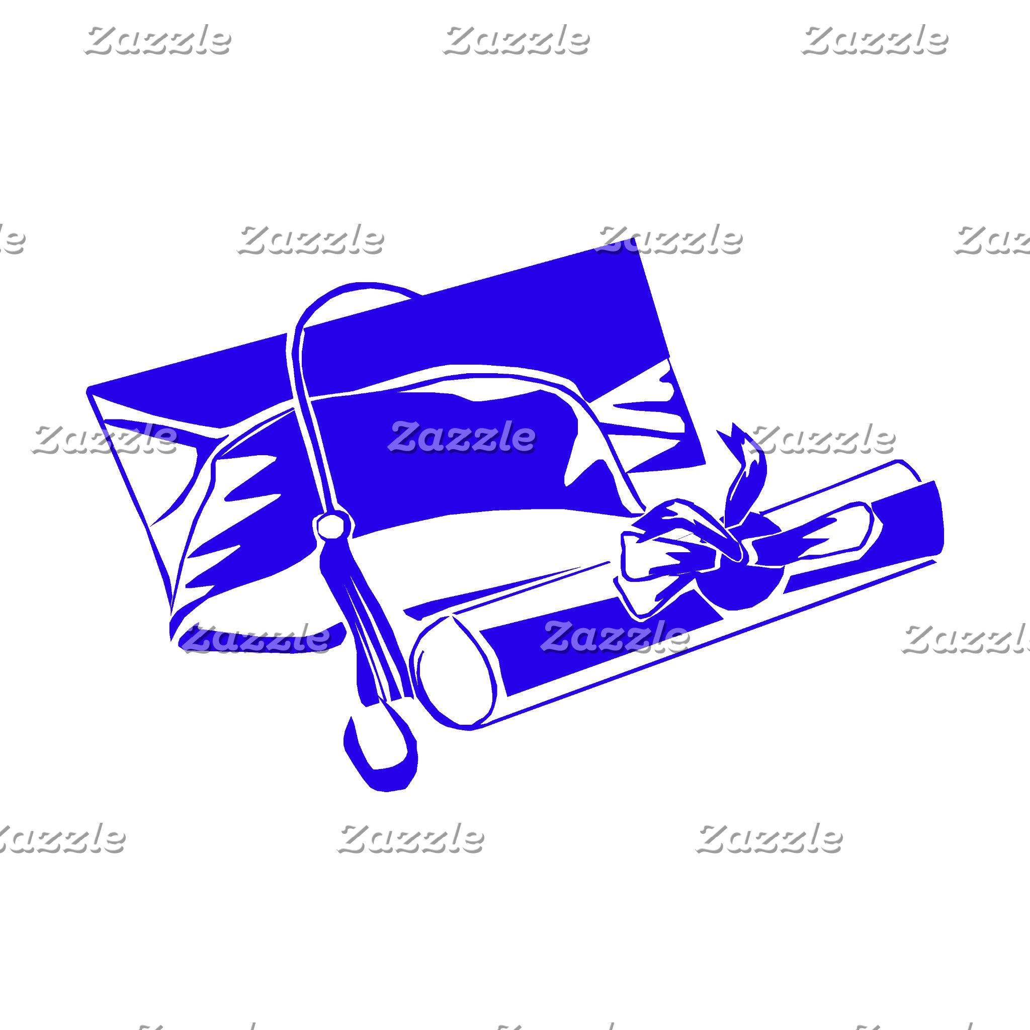 Blue Cap & Diploma