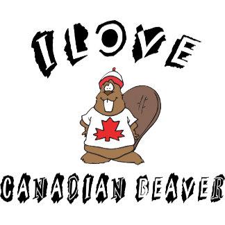 Naughty I Love Canadian Beaver T-Shirt Gift