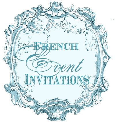 French Style Party and Event Invitations