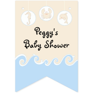 Baby Shower Bunting Banner