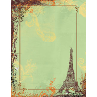 Eiffel Tower in Green