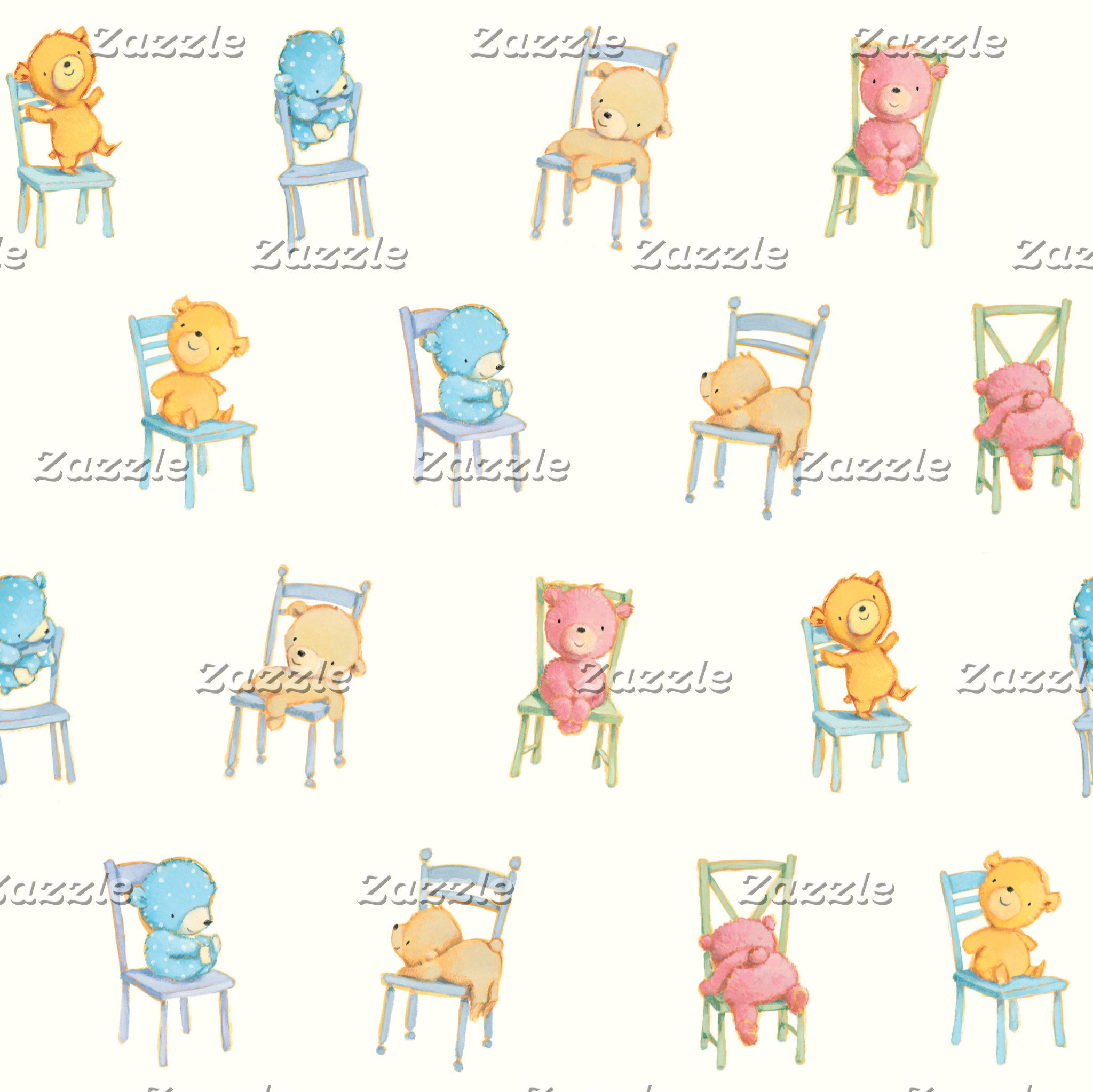 Bears On Chairs Pattern