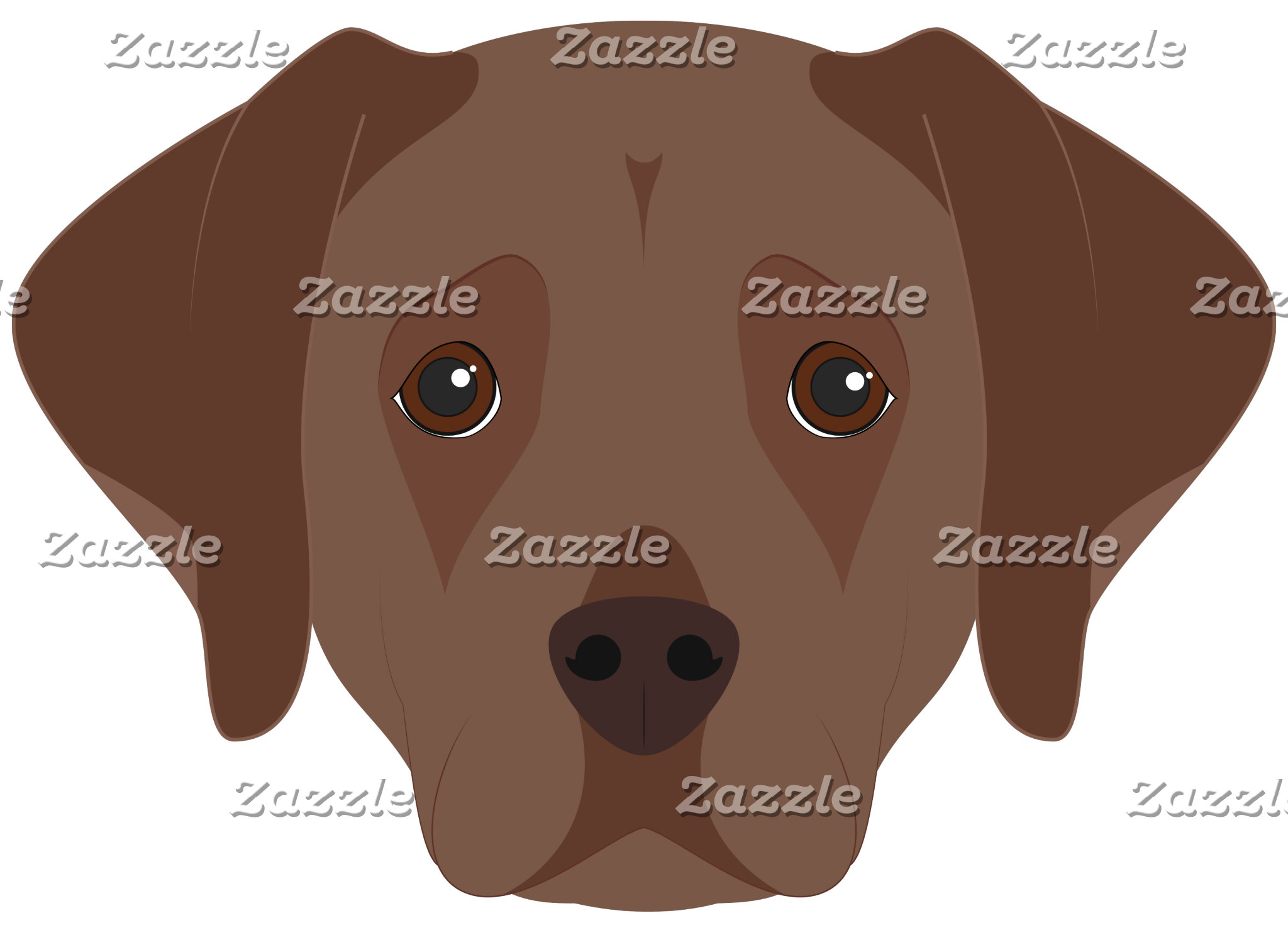 Brown Labrador Restriever Dog Portrait