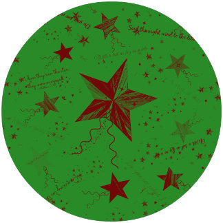 Christmas Star Word Collage