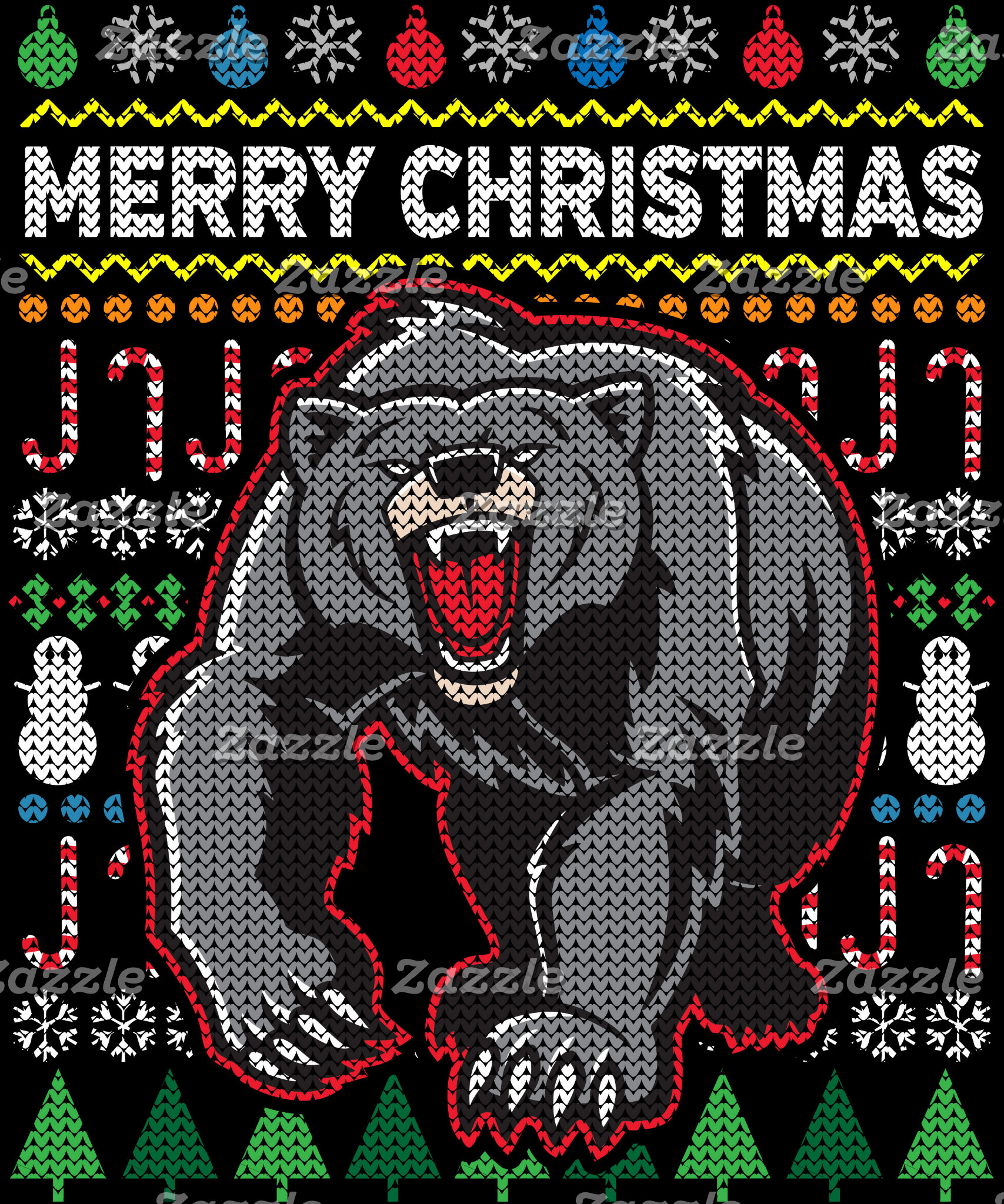 Bear Ugly Christmas Sweater