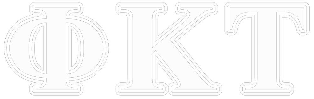 Phi Kappa Tau White and Yellow Letters