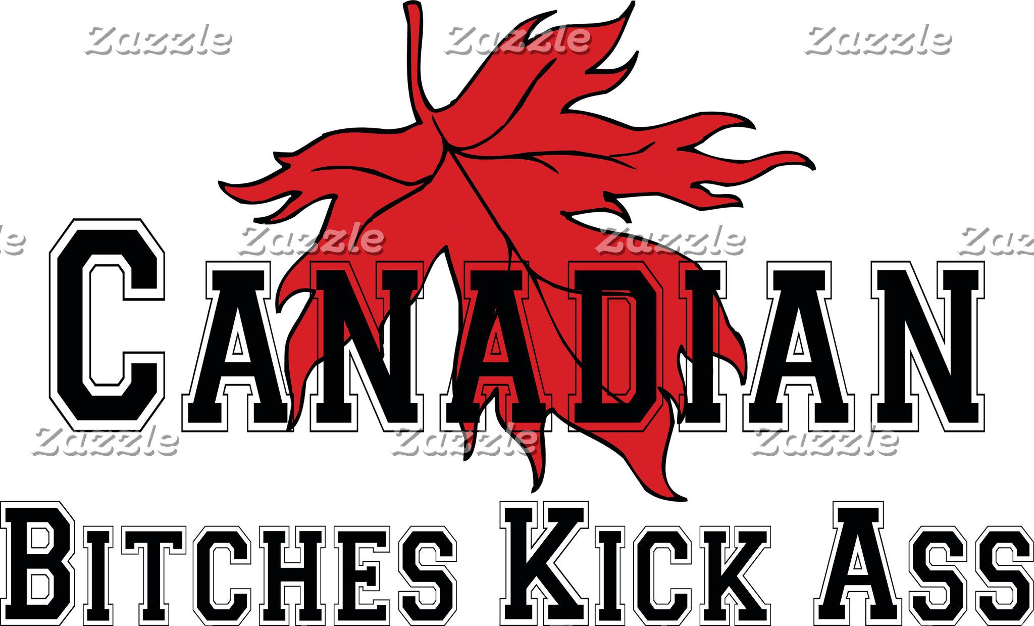Canadian Bitches Kick Ass T-Shirt Gift Cards