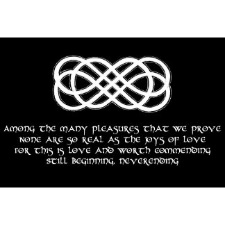 Neverending Love Knot with poem - Products