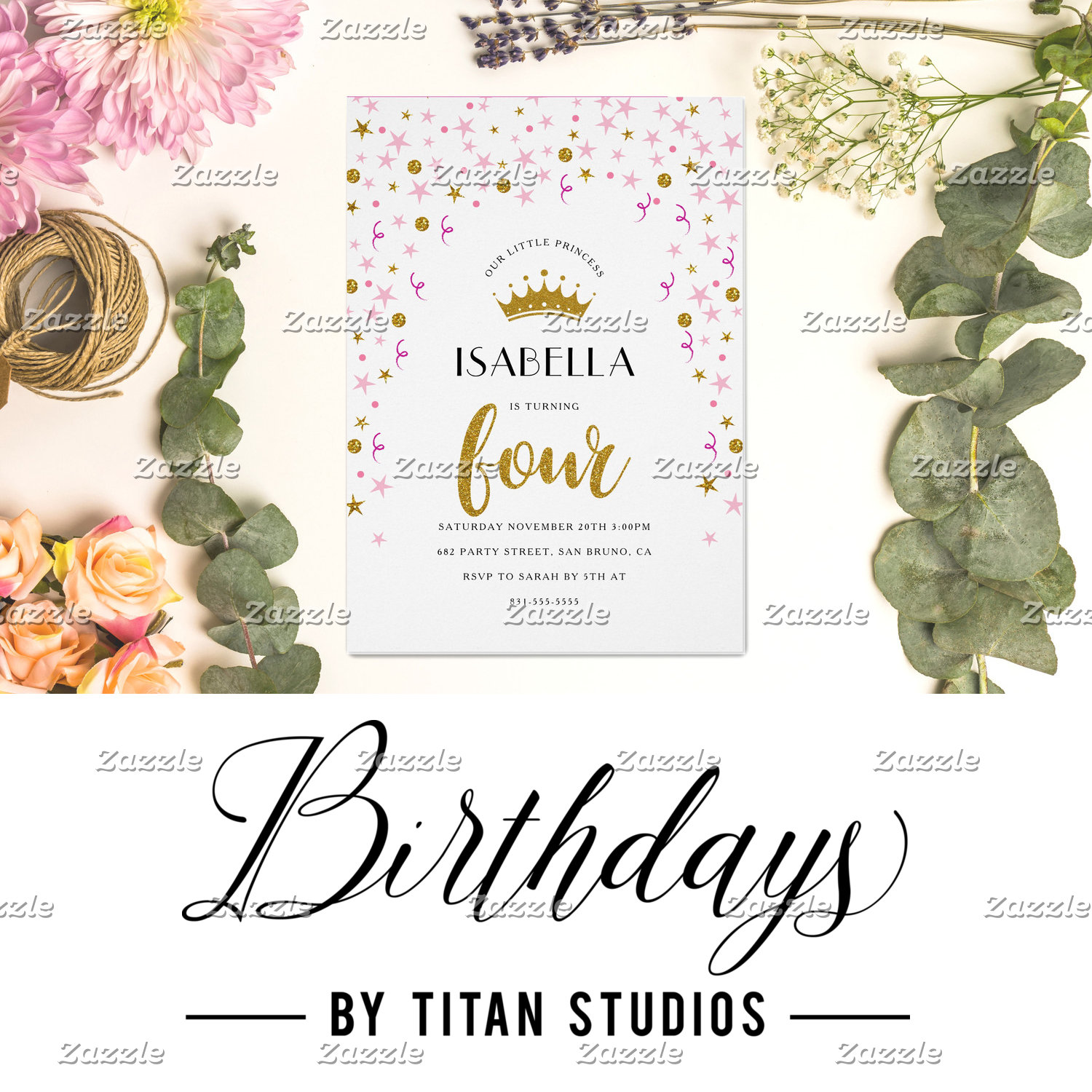 Birthday Invites by Titan Studios