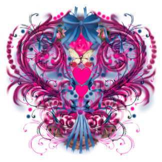 Mardis Gras Hearts