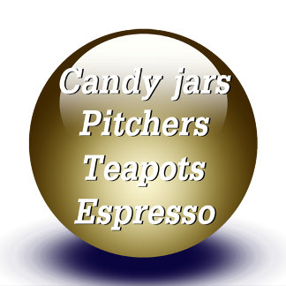 Candy Jars, Pitchers, Teapots, Espresso Mugs