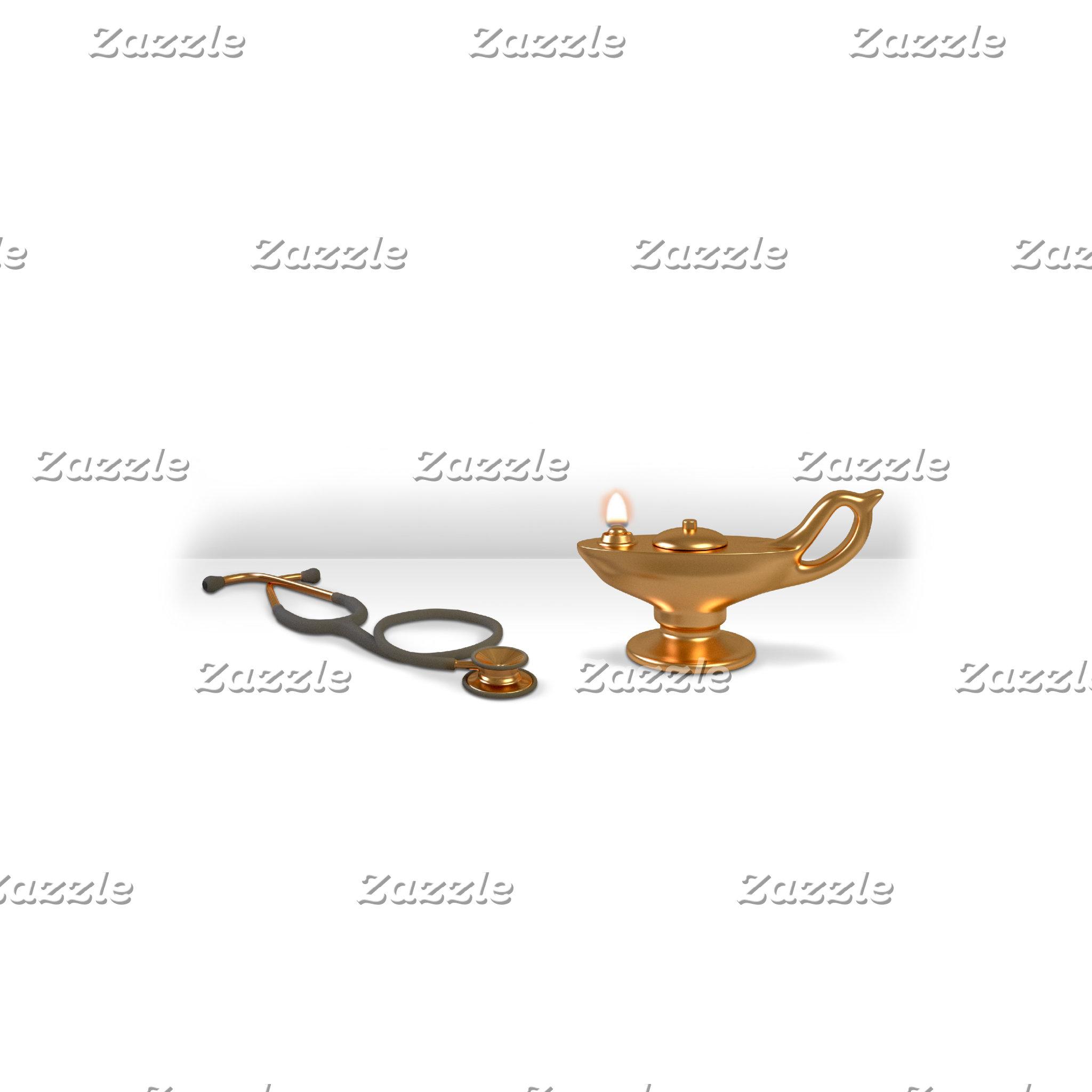 Nursing Lamp And Stethoscope