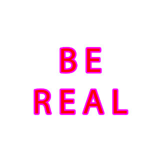 BE REAL Red Magenta3 jGibney The MUSEUM Zazzle Gi