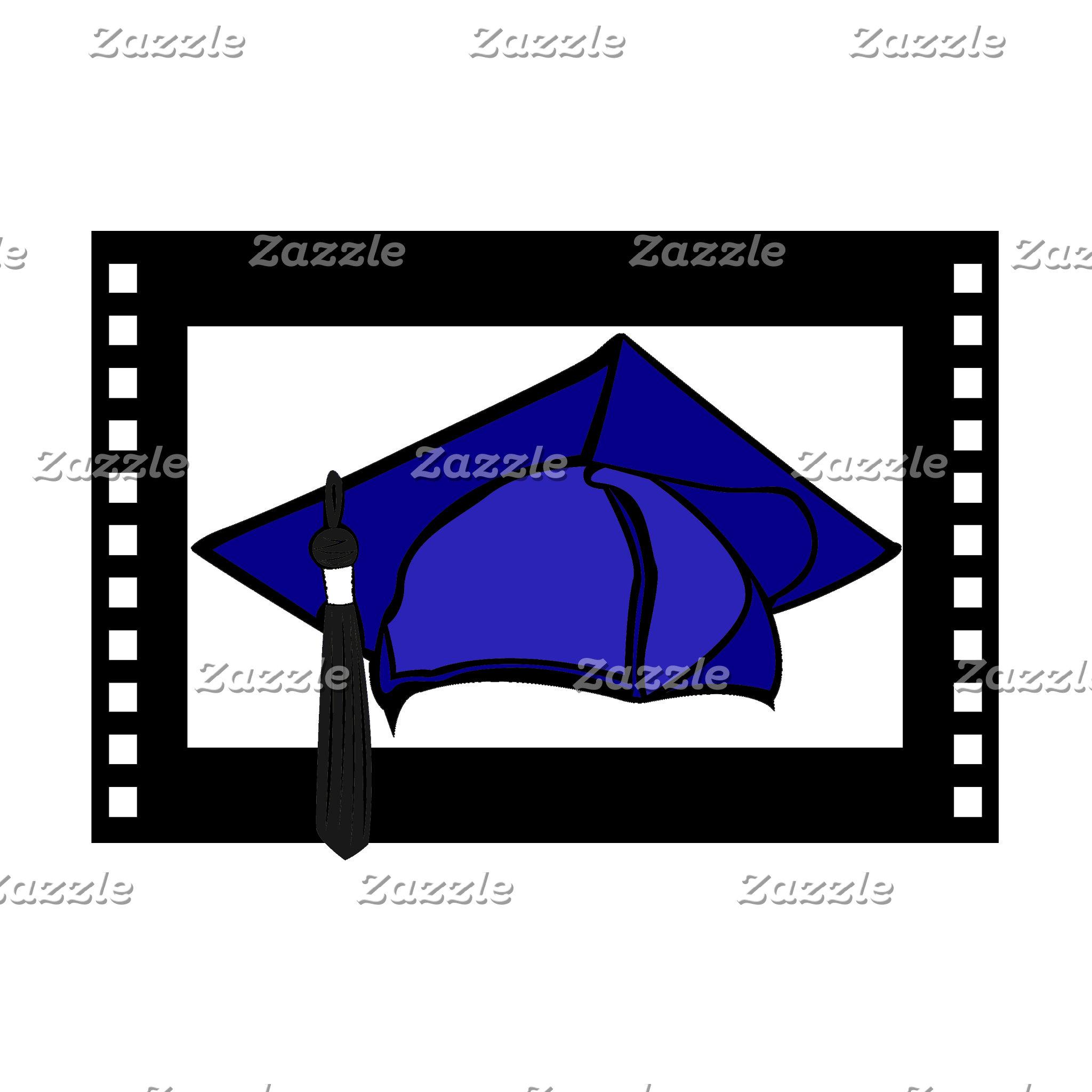 Blue Cap Black Tassel