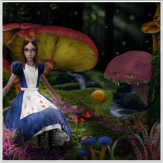 American McGee's Alice Mushroom Forest Poster