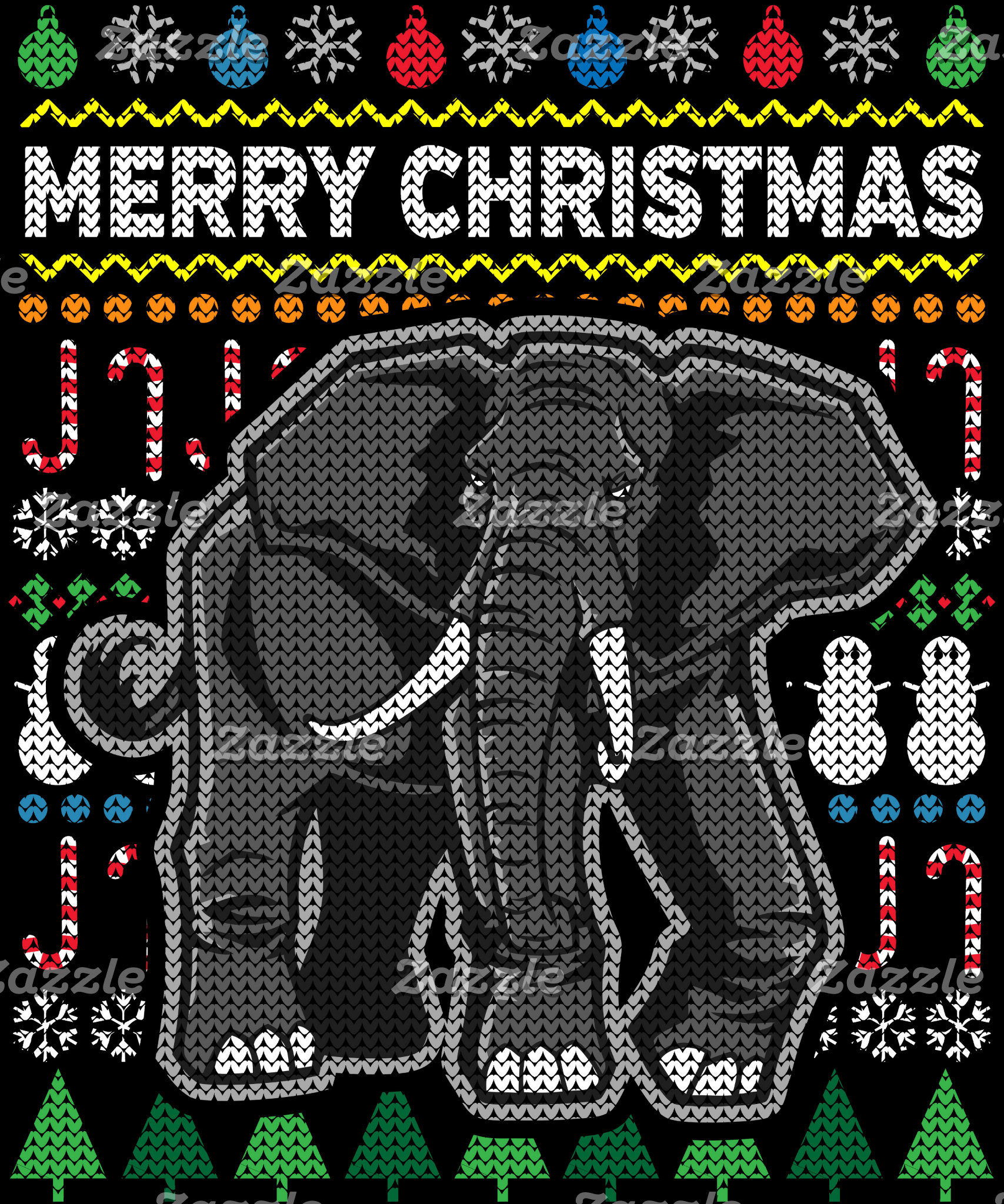 Elephant Ugly Christmas Sweater
