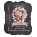 Floral Baby Invitations
