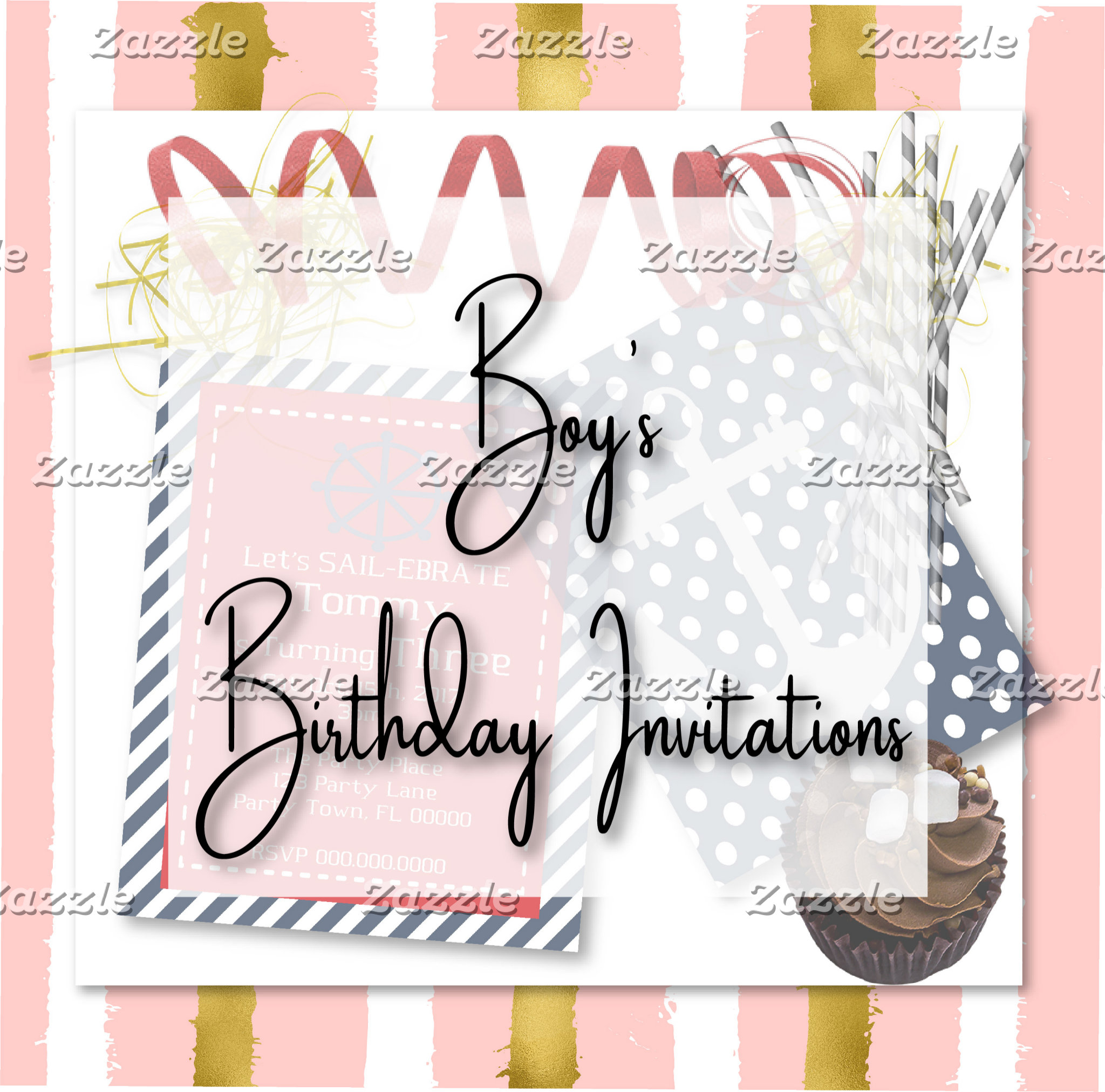 Boy's Birthday Invitations