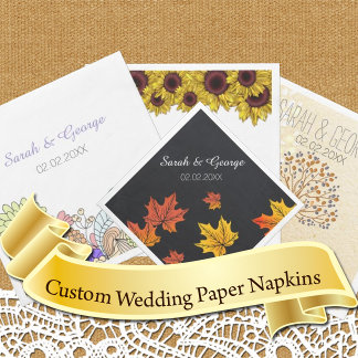 Wedding Paper Napkins