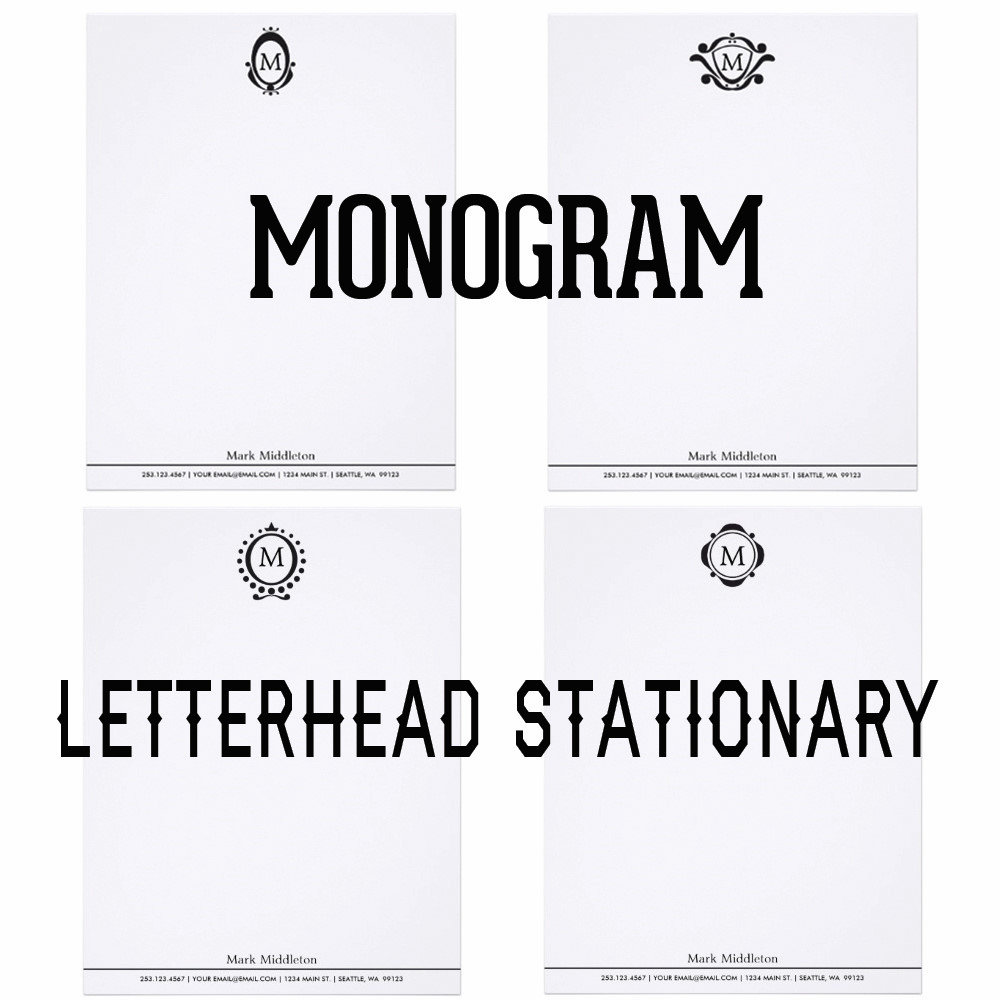 Monogram Letterhead Stationery