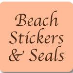 Beach Wedding Favor Stickers and Envelope Seals