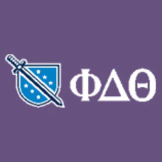 Phi Delta Theta - Greek Lettters and Logo Blue
