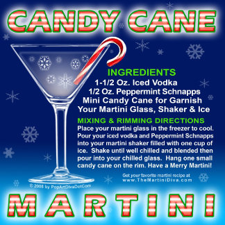 Candy Cane Martini with Recipe!