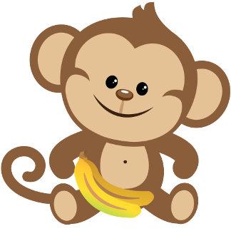 Boy Monkey With Banana