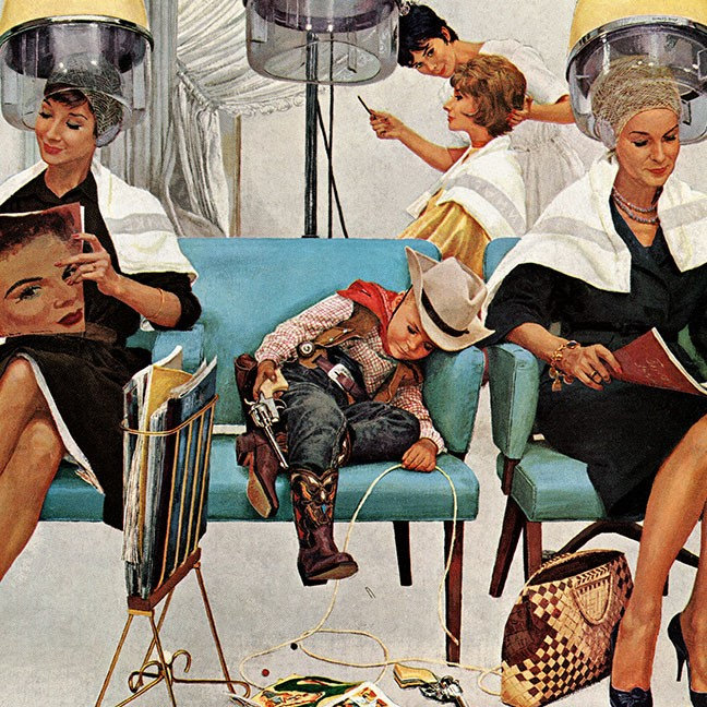 Saturday Evening Post Retro Illustration