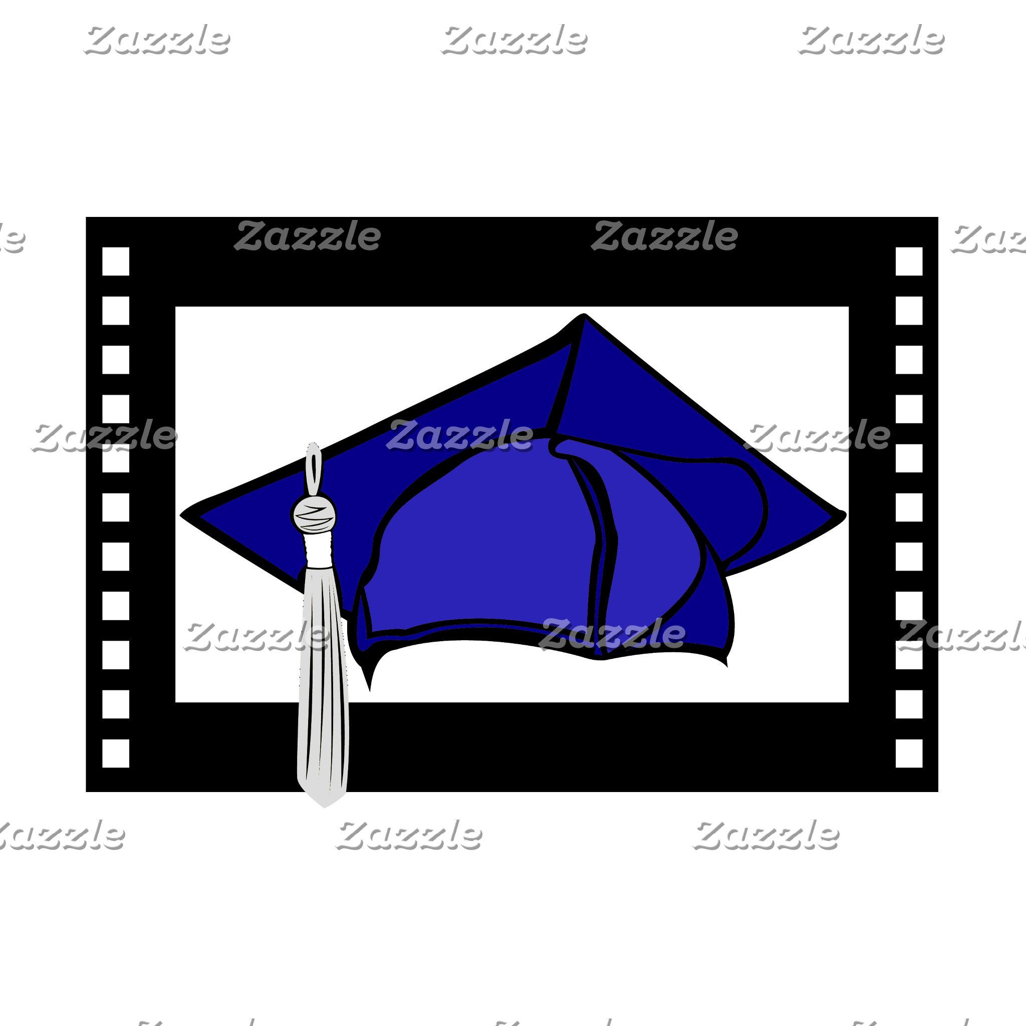 Blue Cap Silver Tassel