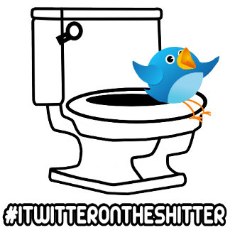 Funny twitter on the shitter T shirts
