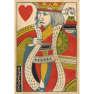 """""""King of Hearts Card Poster Print"""""""