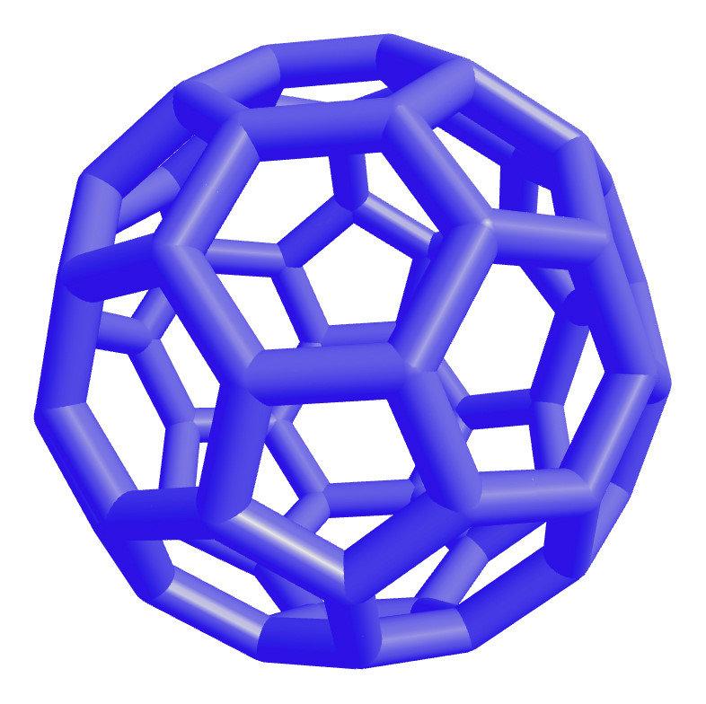 Stick models of molecules