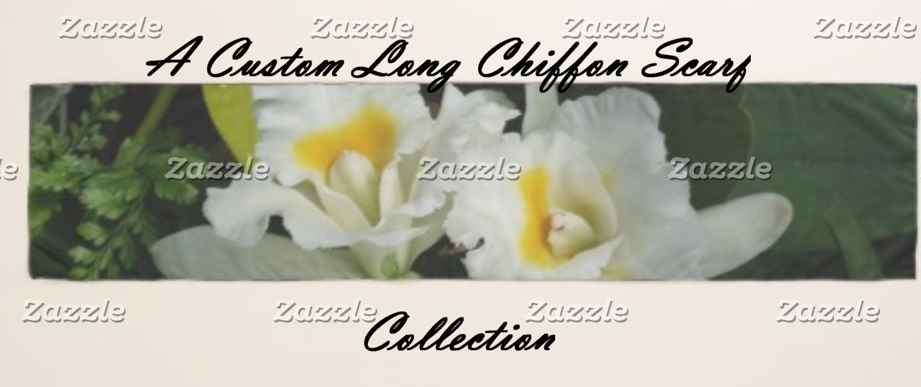 A Designer Long Chiffon Scarves Collection